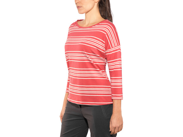 Patagonia Shallow Seas Haut Manches 3/4 Femme, lightning stripe: static red